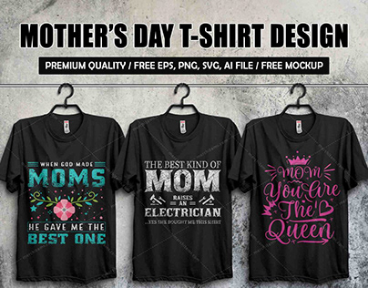 Mother's Day T-shirt Design Template