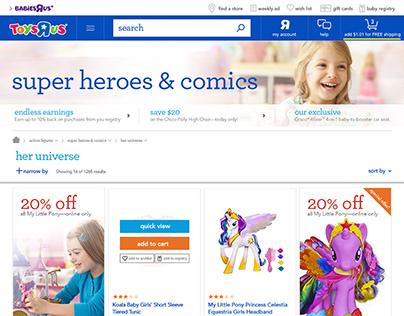 "Toys""R""Us - Webpage Design"