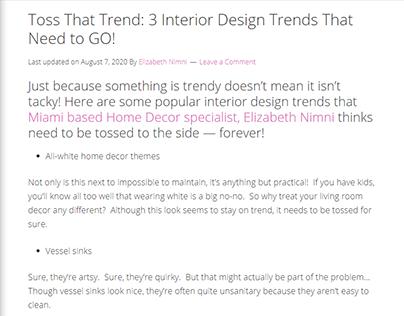 Toss That Trend! (blog post)