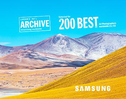 Samsung UHD TV Onscreen - Atacama Landscape photography