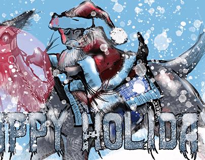 Santa and Rudolf,