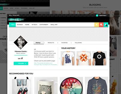 E-commerce Bilingual Website Design
