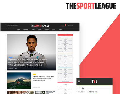 The Sport League - UX-UI