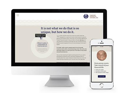 Timothy Financial Website Design