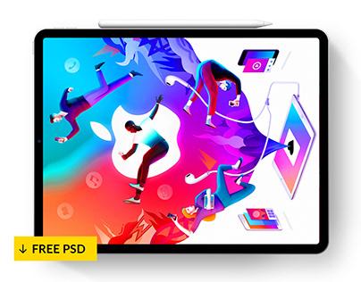Free iPad Pro PSD & Sketch Mockups