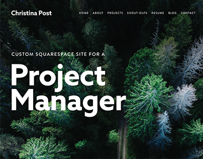 Custom Squarespace Site