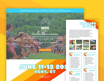 Camp Indie Website