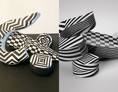 OP Art in Virtual and Physical