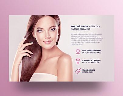 Diseño web para Estética corporal y facial Natalia