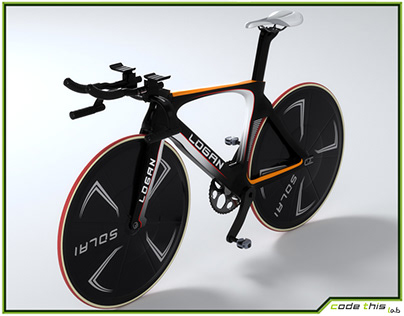 3D Model: Track Bicycle Animated HQ 003