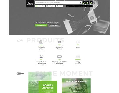 Photograph specialist e-commerce design