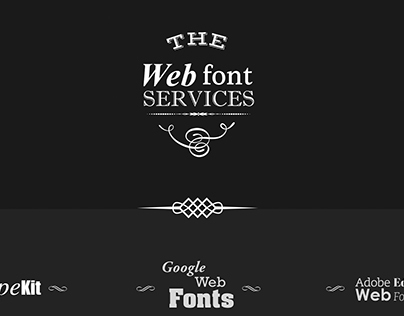 Web font services infographic