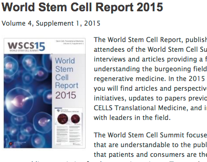 World Stem Cell Report 2015