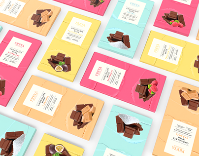Freya Chocolate - Packaging Design