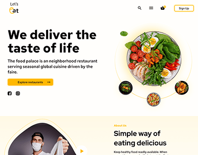 Food delivery web and mobile app