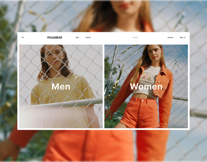PULL&BEAR – Fashion Store UI/UX Redesign Concept