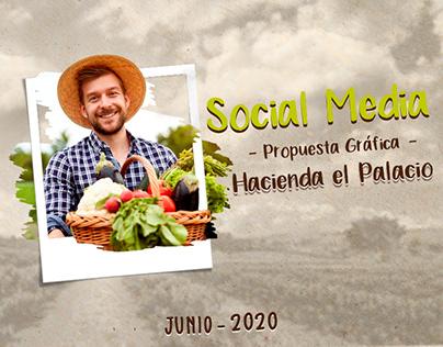 Hacienda el Palacio, Social media.