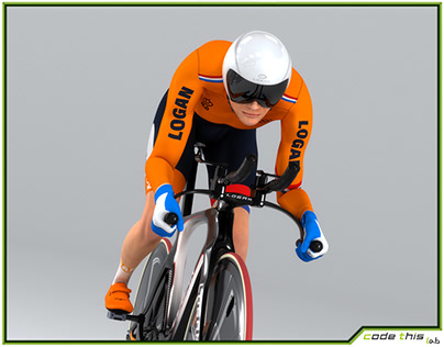 3D Model: Track Cyclist Animated HQ 001
