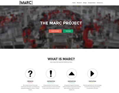 MARC Website (SkillsUSA Engineering 2016, 2nd Place)