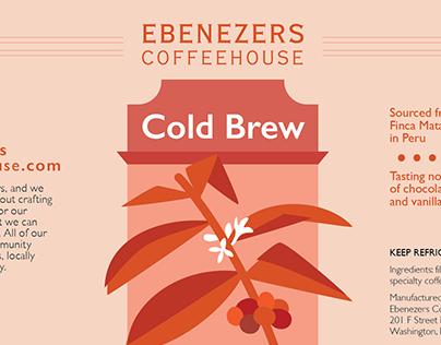 Ebenezers Coffee Packaging and Merchandise