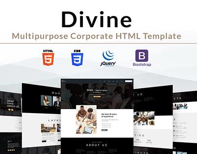 Divine - Multipurpose Corporate HTML Template
