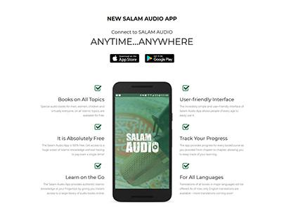 Salam AudioApp ~ Webfolio