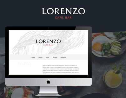 Diseño Web para Lorenzo Bar / Restaurant website