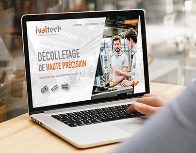 Maquette Site Web pour Industriel