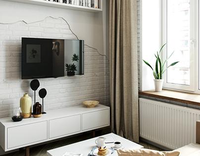 Дизайн проект квартиры / 17 m2 flat