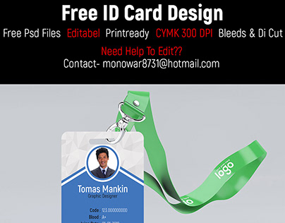 Printable ID Card Design FREE