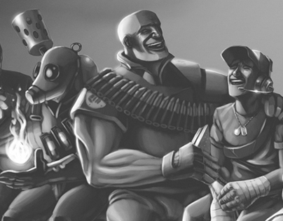 Team Fortress 2 : Team on a Beam