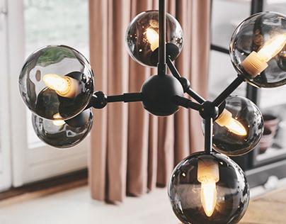 Atom chandelier - Halo Design