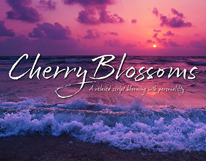 Cherry Blossoms Typeface
