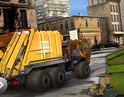 Trash Truck Simulator share-gui/ux/ui app icon logo
