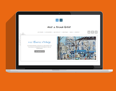 Site WooCommerce Meet a French Artist