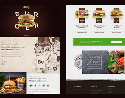 Burger - Responsive Website Design