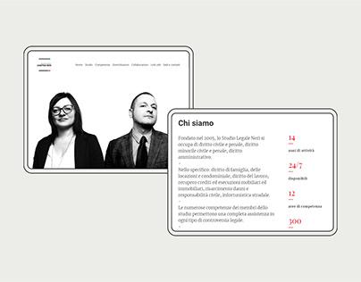 Studio Legale Neri - website