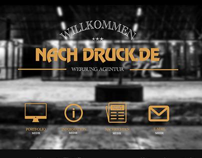 "Макет сайта рекламного агентства ""NachDruck"""