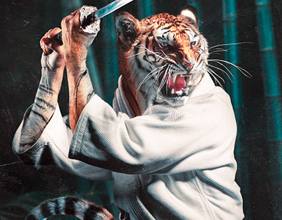 Kendo Tiger • Photoshop Manipulation
