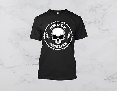 Skull Gasoline T-SHIRT DESIGN