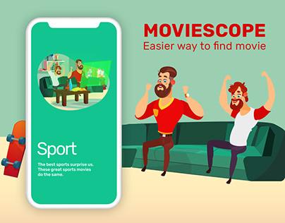 Movie app concept (UI art animation)