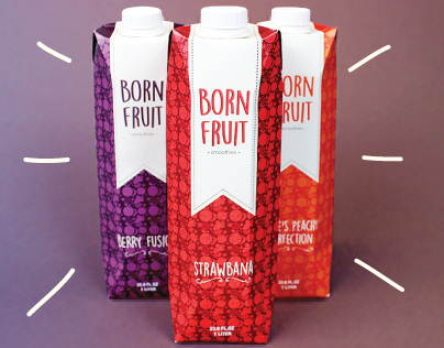 Born Fruit Smoothies Packaging