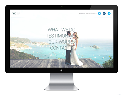 Wedding Wideography Website
