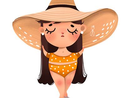 Мадам в шляпке