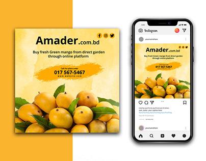 Mango sale Instagram Template