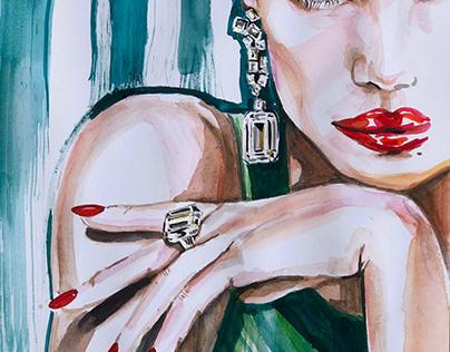 Graff jewelry illustration