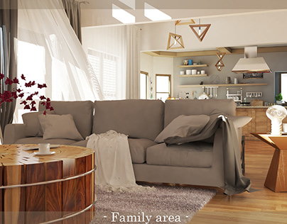 Hacienda Home Remodel Family Area
