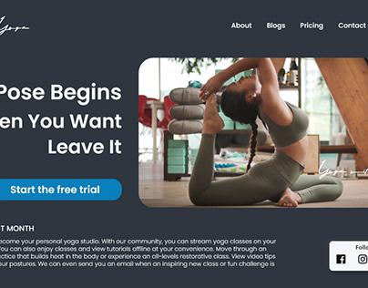 Yoga Website Homepage Design