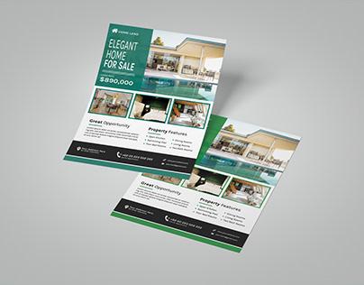 Elegant Real Estate Flyer A4
