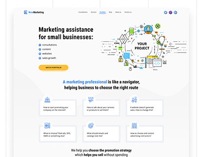 Marketing assistance for small businesses